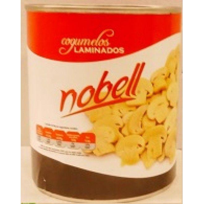 COGUMELOS NOBEL LAMINADOS LATA 1 KG (420 GRS) (12)