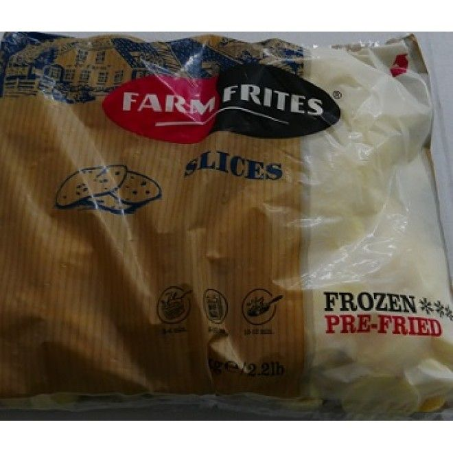 BATATA RODELAS (SLICES) FARMFRITS  KG. (12)