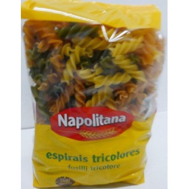 ESPIRAIS TRICOLORES NAPOLITANA 500GRS (20)#