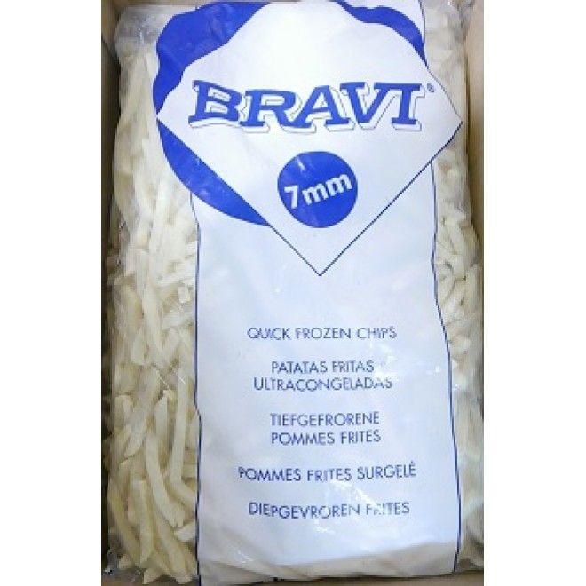 BATATA PRE-FRITA BRAVI 7 MM 2.5 KG.