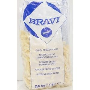 BATATA PRE-FRITA BRAVI 10 MM 2.5 KG