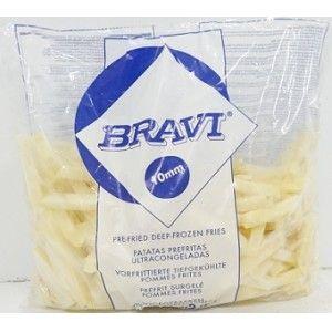 BATATA PRE-FRITA BRAVI 10MM 1KG.