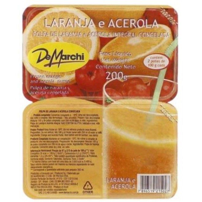 POLPA DE ACEROLA/LARANJA DEMARCHI 5X200GRS (4)