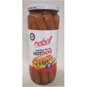 SALSICHAS NOBELL HOT DOG FRASCO 12 720GRS (6)#