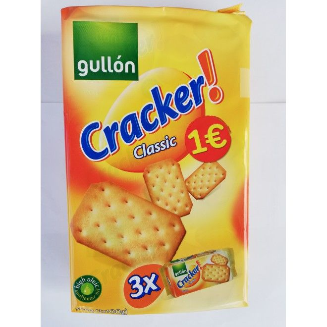 BOLACHA GULLON CRACKER CLASSIC PACK 3X100GRS (8)#